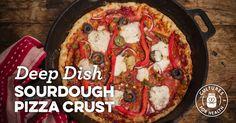 Deep Dish Sourdough Pizza Crust Recipe