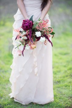 Wedding Bouquet | Purple mixed  | Photography: Greg Ross Photography