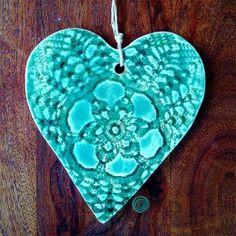 ceramiczna zawieszka w kształcie serca
