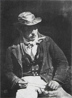 DAVID OCTAVIUS HILL and ROBERT ADAMSON. Redding the Line   (Portrait of James Linton), c. 1846. Calotype.