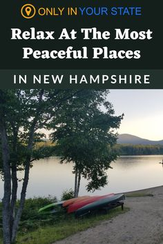 Relax at these peaceful, beautiful places in New Hampshire. Enjoy gardens, parks, lakes, hiking trails, churches, and more. All make for wonderful solo daytrips or date ideas. Peaceful Places, Beautiful Places, Summit View, Granite State, Hidden Beach, Clear Lake, Mountain States, New Hampshire, Natural Wonders
