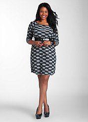 Ashley Stewart - Scalloped Detail Dress