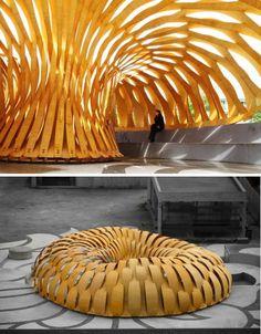 Stuttgart Plywood Research Pavilion, Germany