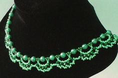 Free pattern for necklace Emerald City