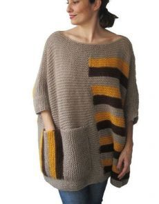 Plus Size Over Size Sweater Beige Brown Yellow Hand by afra gestrickte Pullover Items similar to Plus Size - Over Size Sweater Beige, Brown, Yellow Hand Knitted Sweater with Pocket Tunic - Sweater Dress by Afra on Etsy Hand Knitted Sweaters, Sweater Knitting Patterns, Knitting Designs, Free Knitting, Cardigan Sweaters, Knitting Ideas, Crochet Shirt, Crochet Jacket, Crochet Poncho