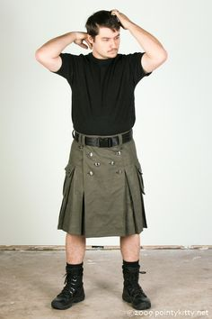 Basic Men's Kilt  Custom made in many colors by techdragon on Etsy, $225.00