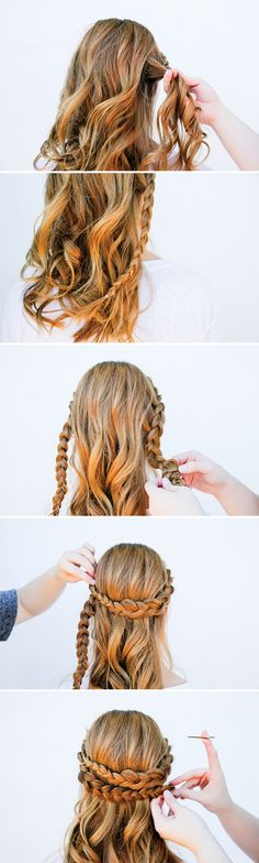 I Can See Your Halo, Halo: A Half Halo Braid Tutorial in 10 Minute or Less - Paper and Stitch