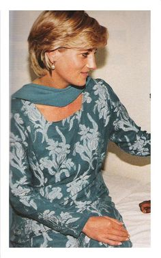 May 23, 1997: Diana, Princess of Wales at a launching of a fund-raising campaign for Imran Khan's charity cancer hospital in Lahore, Pakistan.