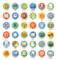 Set for Business and Office Applications Icons