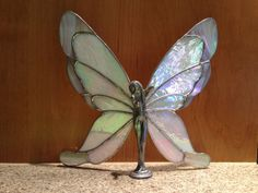 Stained Glass Butterfly Fairy Lady Figurine by Darcy. One of my favorites. =)