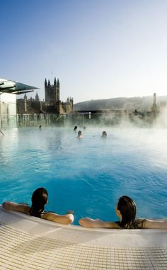 Thermae Bath Spa, Bath. We went here when I was in Bath and it was AMAZING!    http://images.glam.co.uk/glampress_uk/charlotte/0410/Bath-spa.jpg