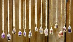 Purple Bohemian Gem Necklace by ForestGipsy on Etsy