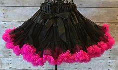 Hot Pink/Black Pettiskirt