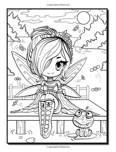 Amazon.com: Chibi Girls: Un libro para colorear con adultos japoneses Manga Dibujos, Hadas mágicas, y la fantasía linda de los animales (9781539988564): Jade verano, Adulto libros de colorear: Libros