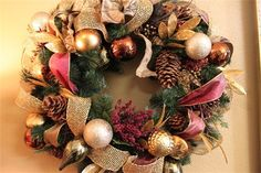 Custom Christmas Wreath Created by Kelley Walker, Flair Footage   Now Available in Showroom $114.00