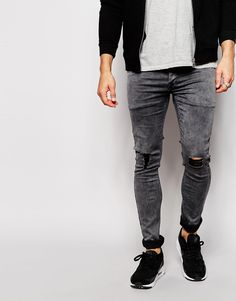Antioch Super Skinny Jeans With Repair Rip