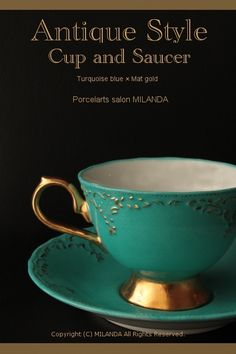 Porcelarts -Turquoise Blue Cup-