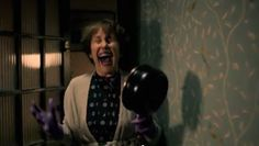 Mrs. Hudson meets Sherlock again after 2 years. understandable reaction.