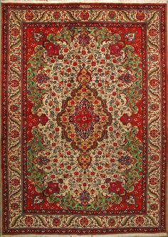 "Buy Tabriz Persian Rug  8' 4"" x 11' 6"" , Authentic Tabriz Handmade Rug"