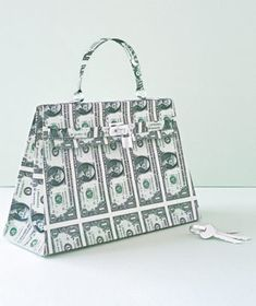 Handbag made of paper by Matthew Sporzynski for Real Simple