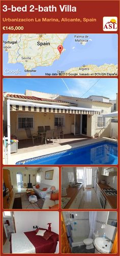 3-bed 2-bath Villa in Urbanizacion La Marina, Alicante, Spain ►€145,000 #PropertyForSaleInSpain