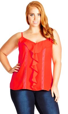 704a28d98 City Chic Waterfall Cami - Women s Plus Size Fashion - City Chic Your  Leading Plus Size
