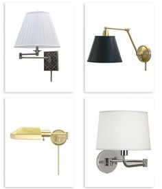 round up of our favorite plug in swing arm wall lights, good bones great pieces.