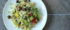 Healthy Mediterranean Quinoa Summer Salad | Foodness Gracious