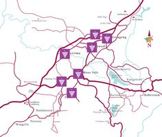 Wine trail map