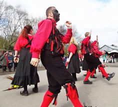 Rag coats as worn by morris dancers the Ironmen and Severn Gilders.