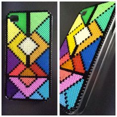 Hard case plastic cover decorated with mini Hama by BlackChameleon, kr150.00
