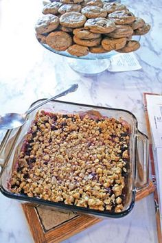 Blackberry Crisp recipe- made this with the girls after blackberry picking and it was easy and delicious!