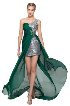CLOCOLOR Women's Sequins Chiffon One Shoulder High Low Prom Dresses Size 26W Teal Green. One-shoulder,Sweetheart bodice,Asymmetric hi-lo split sweep train party gowns. Material:Chiffon and Sequins.Silhouette:Sheath.Back:Side zipper closure.Hemline:Floor length. Imported,Dry Clean,Color:Teal Green/customized color is available. Season:Spring,Summer,Fall,Winter. Suitable occasions:Wedding Ceremony,Formal occasion,Party,Prom,Birthday etc. Size: US2-26W plus size or custom size.Please refer…