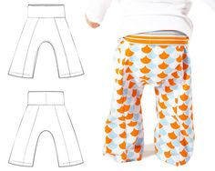 Lounge sweatpants sewing pattern for babies and toddlers By: Brindille & Twig