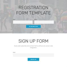 Template for Registration form Lovely Free Bootstrap Template 2018 Free Email Templates, Business Newsletter Templates, Bootstrap Template, Flyer Template, Introduction Letter For Job, Making Your Own Website, Questionnaire Template, Web Design, Registration Form