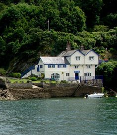 Author Daphne Du Maurier's former home, Ferryside, Bodinnick, Cornwall, England