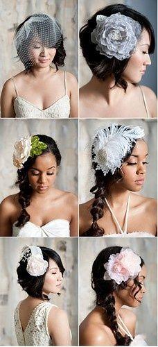 veil/flower for hair