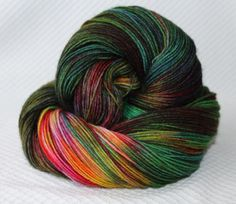 Color:Rainbow above a wood    Composition: 75% superwash wool ; 25% polyamide appr. 425m/100gr    Additional information: This is a German made yarn