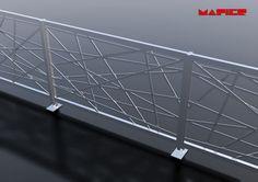 Garde-corps d'extérieur / en aluminium / à barreau / pour terrasse EXPO ITALIA MAPIER GROUP S.R.L.