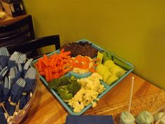 Under the Sea theme party veggie tray