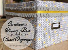 Diaper Box Upcycle