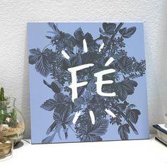 Placa decorativa - Fé Serenity