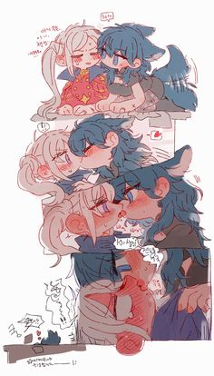 Anime Girlxgirl, Cute Anime Chibi, Chica Anime Manga, Kawaii Anime Girl, Anime Art Girl, Cute Lesbian Couples, Cute Anime Couples, Fire Emblem Characters, Anime Characters