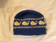 Child s Whale hat pattern is a traditional beanie with a whale pattern.  Knitting Charts 8c562e19edd5