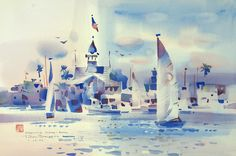 Famed Watercolorist Comes 'Home' to Newport Beach