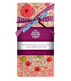 Luxus Schokolade Erdbeere Happy Birthday 100 g