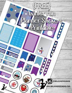 {FREE} Winter Fun Planner Sticker Printable