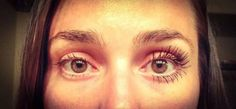 1 coat of 3D MASCARA!! Guess which eye?