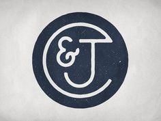 C & J Monogram by Stephen Rockwood #graphicdesign