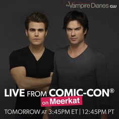 Watch the cast of answer your questions LIVE from tomorrow! The Vampires Diaries, Vampire Diaries Cast, The Cw, The Salvatore Brothers, Original Vampire, Paul Wesley, Delena, Movies And Tv Shows, Favorite Tv Shows